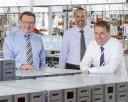 Die drei Geschäftsführer der BDT Media Automation GmbH (v.l.n.r.): Friedhelm Steinhilber, Rolf Ritter und Dr. Holger Rath
