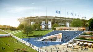 """Der """"HSV-Campus"""" soll in unmittelbarer Nähe des HSV-Stadions entstehen Quelle: HSV"""