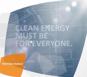 Photon Energy Investment plant, eine Anleihe zu begeben. Quelle: Photon Energy