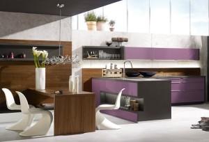 Alno Küche lila