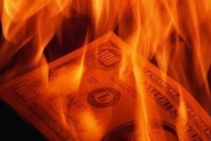 geld brennt gut