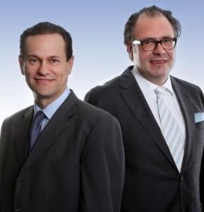 Fondsmanager Ralf Meinerzag (r.) und Roger Bürgin