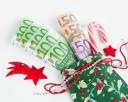 Weihnachtsgeschenk, Advents-Geschenk, Euroscheine, Geldgeschenk