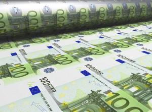 Euroscheine werden gedruckt