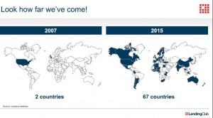Länder mit P2P Lending; Quelle: Lendstar