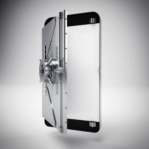 3d Cellphone with the screen as a safe