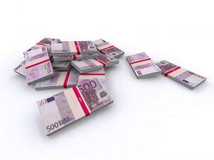 500 Euro Geldscheine - Geldstapel, Geldbndel