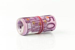 Bargeld - Euro Scheine gerollt - 500 Euro Geldschein