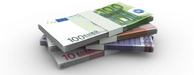 Euro Geldscheine - Geldstapel, Geldbndel