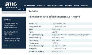 TLG IMMOBILIEN AG platziert erfolgreich Unternehmensanleihe mit Nominalwert von EUR 400 Mio.
