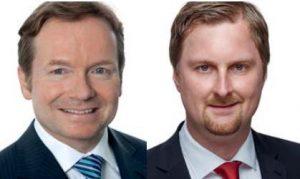 Dr. Mirko Sickinger (li), Dr. Christopher Scholz, Heuking