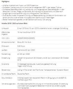 Deutscher Mittelstandsanleihen FONDS (WKN A1W5T2) zeichnet die 5,50%-EYEMAXX Anleihe (WKN A2GSSP)