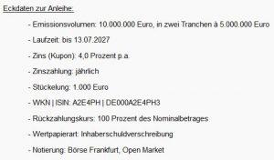 Deutsche Bildung Studienfonds II GmbH & Co. KG: Zweite Tranche der dritten Anleihe erfolgreich ausplatziert