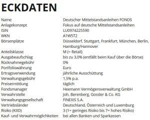 Deutscher Mittelstandsanleihen FONDS (WKN A1W5T2)