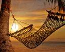 Sunset Hammock at Beach Shore